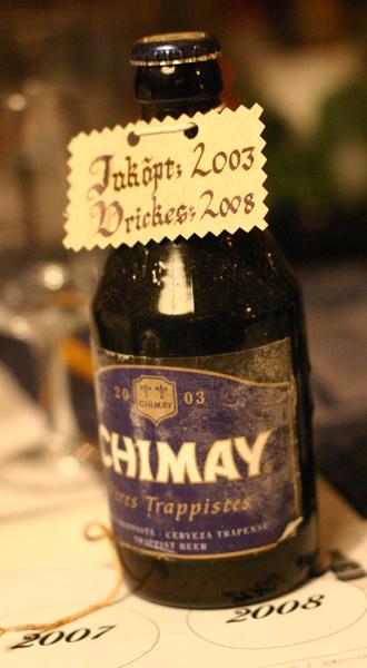 Chimay Blå lagrad
