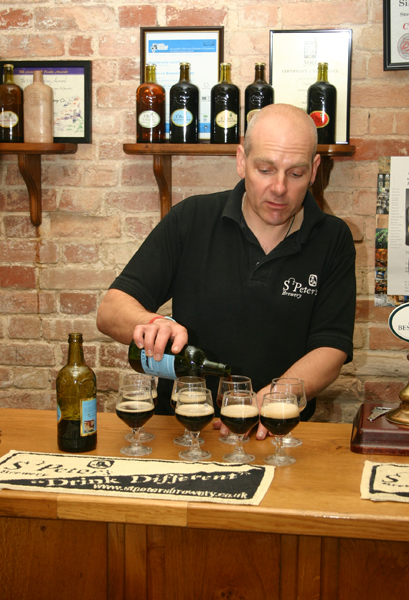 Mark Slater pouring up St Peters Porter