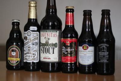 Sex svarta öl