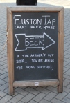 Euston Tap skylt