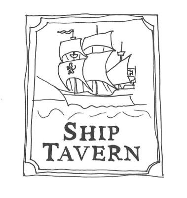 Pubskylt med Skepp