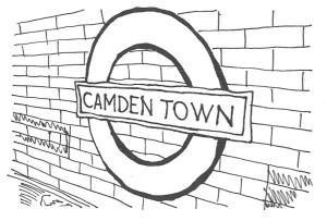 Camden Town Undergroundskylt
