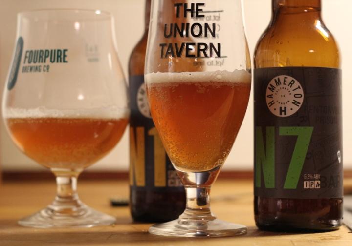N1 och N7, Hammerton Brewery, upphält i glas, Karlströms Malt