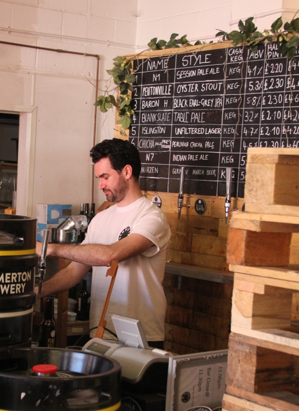 Hammerton Brewery, Tap room, Gavin, London