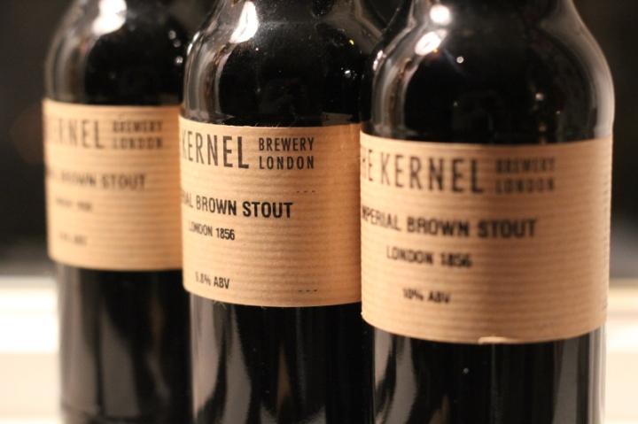 Imperial Brown Stout 1856, The Kernel, tre versioner, Karlströms Malt