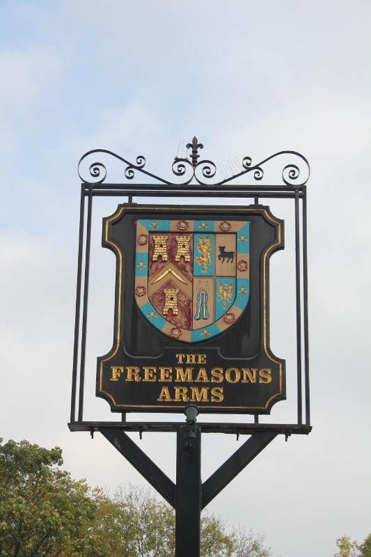Freemason Arms, Hampstead, pubskylt, Resa, London, Karlströms Malt