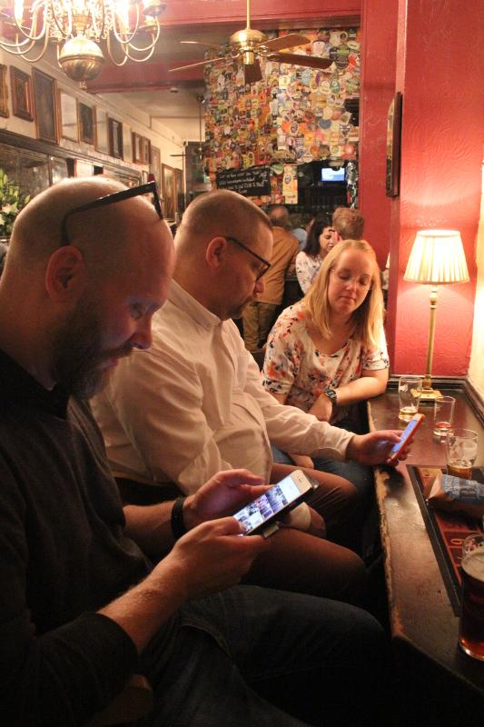 The Harp, Sociala medier, Untappd, Resa, London, Karlströms Malt