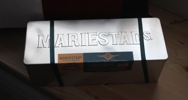 Mariestads Emmerporter, plåtlådan, Karlströms Malt