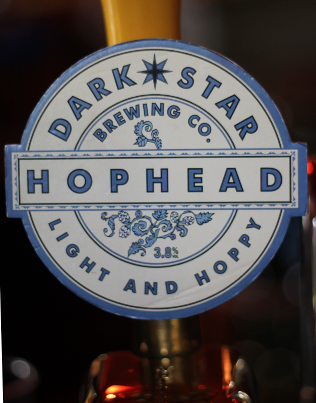 Dark Star, Hop Head, Pump clip, Karlströms Malt