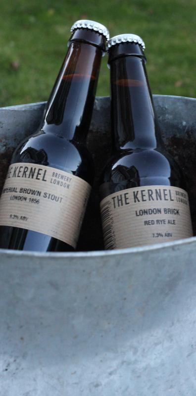 The Kernel, Imperial Brown Stout, London 1856, London Brick, Karlströms Malt, ölflaskor.JPG