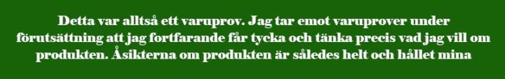 Varuprov, undertext