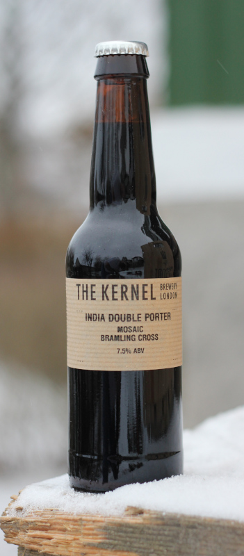 the kernel, double ipndia porter, bramling cross, mosaic, flaska, karlströms malt