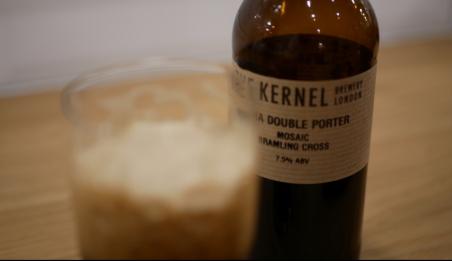 the kernel, double ipndia porter, bramling cross, mosaic, flaska och glas, karlströms malt