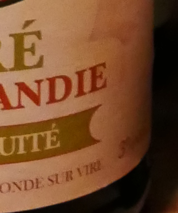 Dujardin Poire de Normandie, päroncider, Karlströms Malt, detalj etikett
