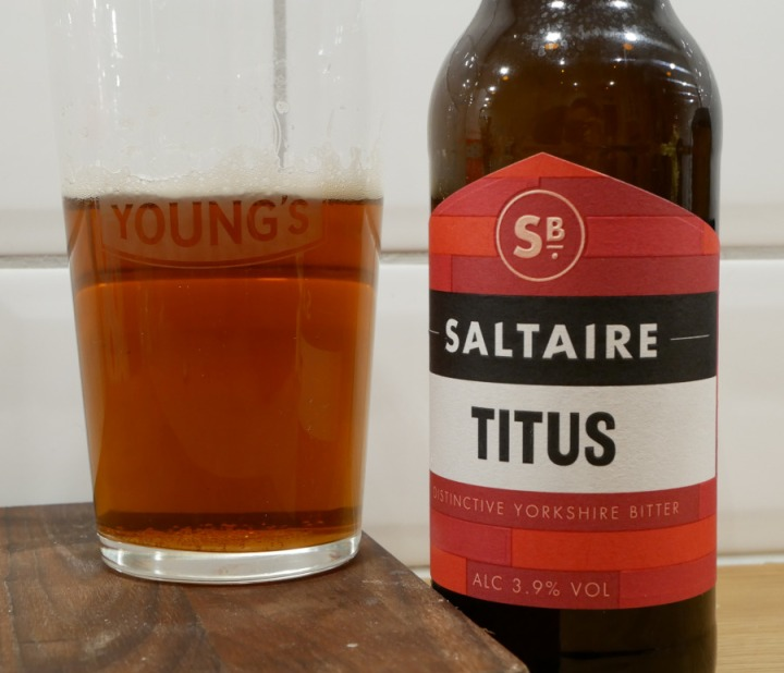 Titus, Saltaire Brewery, flaska, ölglas, Karlströms Malt