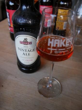 Fuller's Vintage Ale 2006, flaska, glas, Haket, Karlströms Malt,