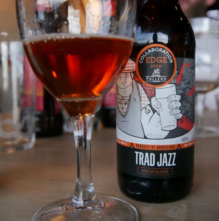 Trad Jazz, Edge Brewing, Fuller's, Flaska, Glas, Karlströms Malt