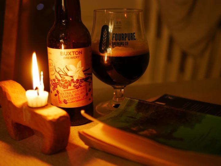 Buxton Brewery, Extra Porter, Costa Rican Coffee, flaska, glas, bok, Karlströms Malt